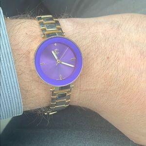 Ladies Charming Charlie Purple and Gold Watch